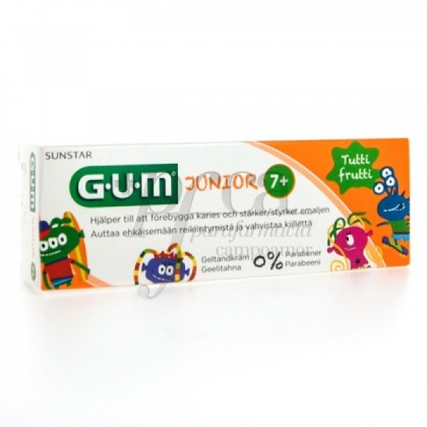 3004 GUM JUNIOR GEL DENTÍFRICO TUTTI FRUTTI 50ML