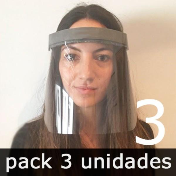 PANTALLA FACIAL PREVENTIVA CONTRA EL COVID-19 (3 unidades)