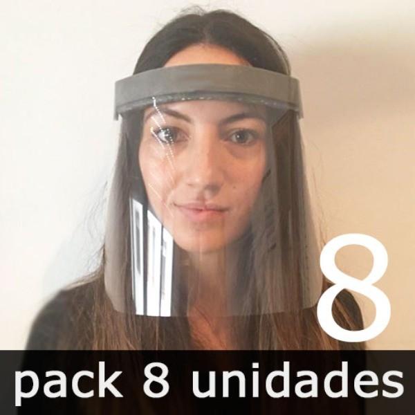 PANTALLA FACIAL PREVENTIVA CONTRA EL COVID-19 (8 unidades)