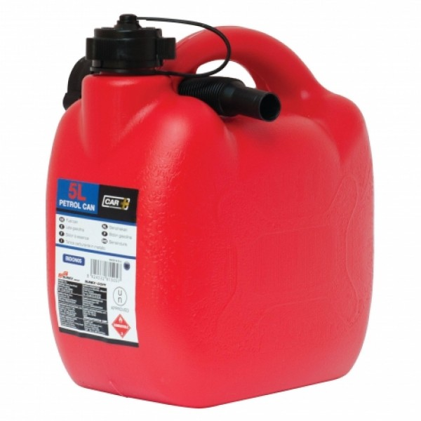 Bidón Gasolina 5 Litros Homologado Con Tubo Flexible