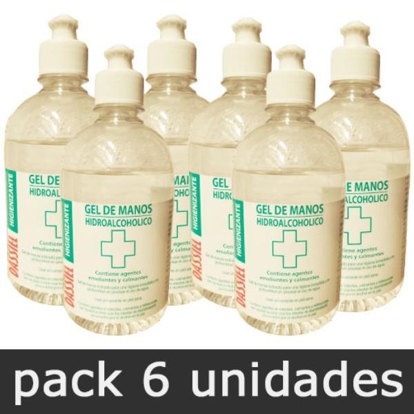 Gel de Manos Hidroalcohólico - Pack 6 botes 150ml