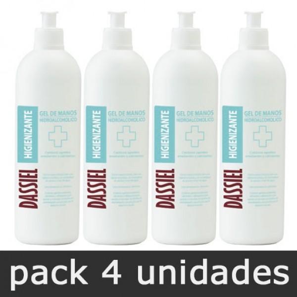 Gel de Manos Hidroalcohólico - Pack 4 botes 500ml dosificador