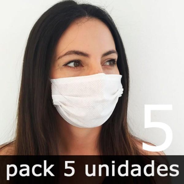 Mascarillas para adultos Higiénicas Reutilizables - Pack 5 Unidades