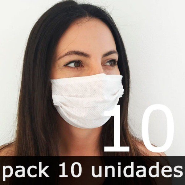 Mascarillas para adultos Higiénicas Reutilizables - Pack 10 Unidades