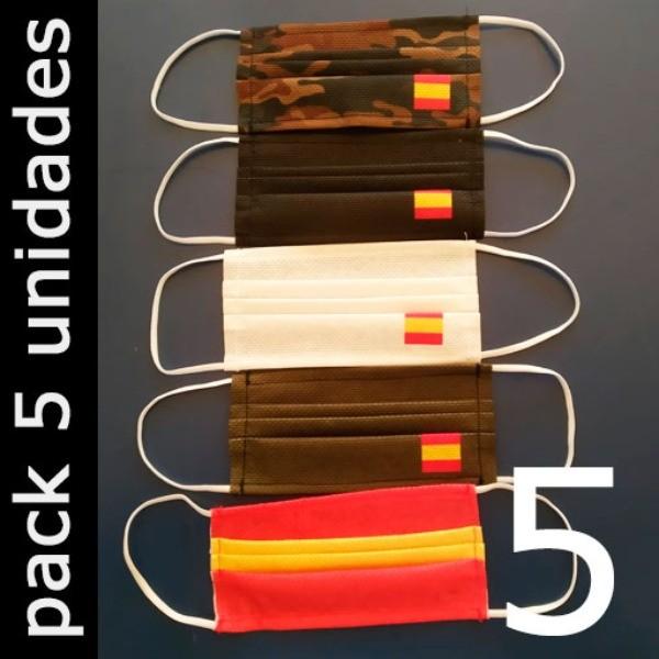 Mascarillas Higiénicas Reutilizables (España) - Pack 5 Unidades