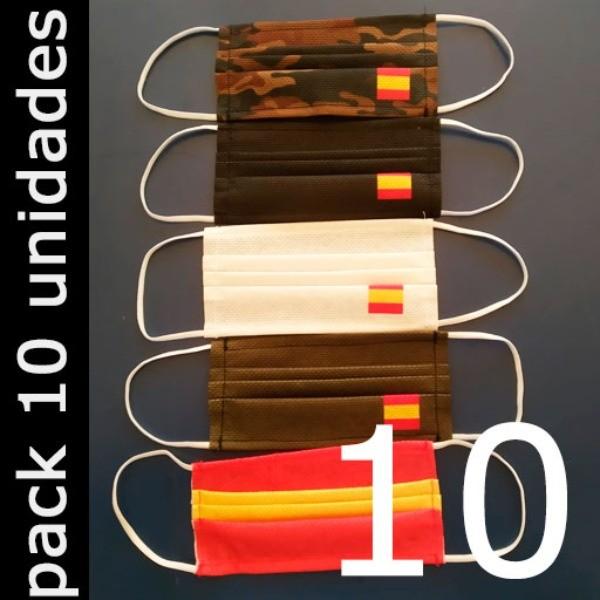 Mascarillas para adultos Higiénicas Reutilizables (España) - Pack 10 Unidades