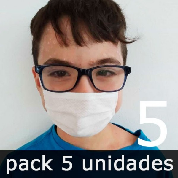 Mascarillas para Niños Higiénicas Reutilizables - Pack 5 Unidades