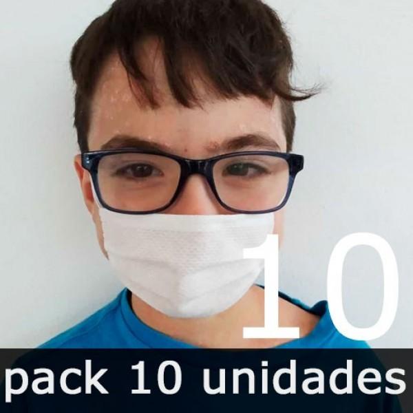 Mascarillas para Niños Higiénicas Reutilizables - Pack 10 Unidades